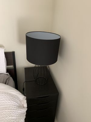 Lamps, black metal base, black shades, like new for Sale in Fairfax, VA