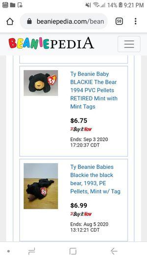 Beanie babie blackie for Sale in St. Petersburg, FL