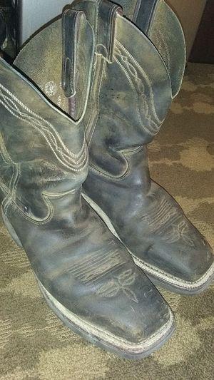 Men's sq. Toe steel toe work boots 9d for Sale in Houston, TX
