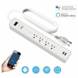 CRST Smart Wifi Wireless 4 Outlets 2 USB PORTS Power Strip Surge Protector for Sale in Ontario, CA