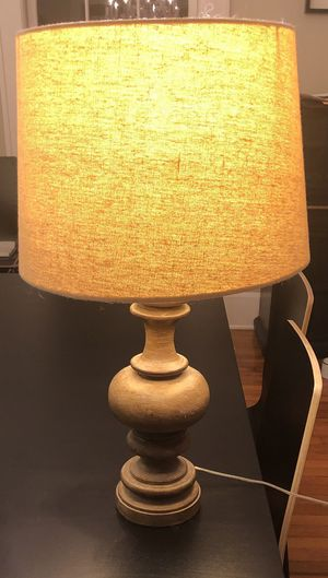 Wooden table lamp with linen shade $45.00 for Sale in Orlando, FL