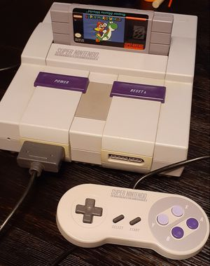 Clean super Nintendo system with super Mario world for Sale in Fresno, CA