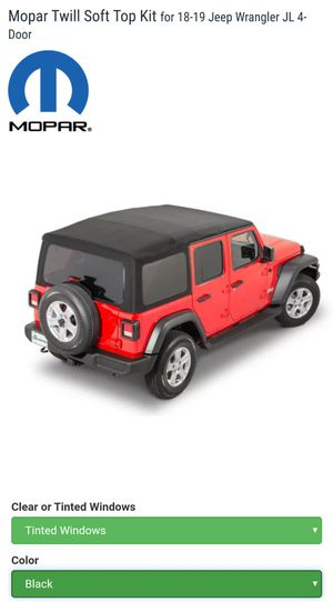 New In Box Mopar Soft Top For Jeep JL 2018-2019 for Sale in Carrollton, TX