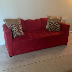 Furniture 3 Piece Set, 2 Red Couches & Coffee Table | READ F.A.Q for Sale in Greenville, NC