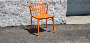 Stack Plastic Dining and Patio Chairs. ORANGE Color Polypropylene. Commercial Use Restaurant CAFE for Sale in El Monte, CA