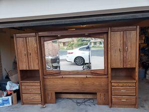 Wood bed set for Sale in Litchfield Park, AZ