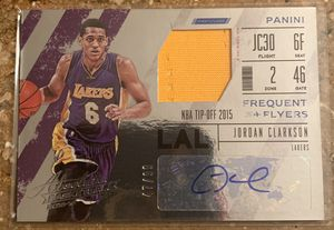 Los Angeles Lakers Jordan Clarkson auto patch card!! for Sale in Phoenix, AZ
