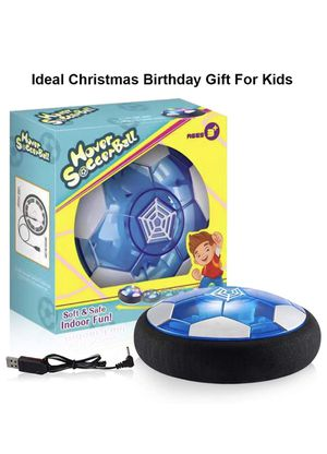 Hover Soccer Ball Boy Toys, Rechargeable Air Soccer Indoor Floating Soccer Ball with LED Light and Upgraded Foam Bumper Perfect Birthday Christmas Gi for Sale in Arlington, VA