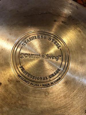 Stainless Steel Pot & Strainer/Steamer Set for Sale in Bellingham, WA