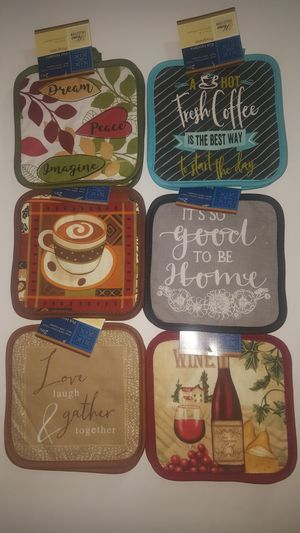 6 (Six) Sets of 2 Piece Pot Holders for Sale in Lockhart, FL