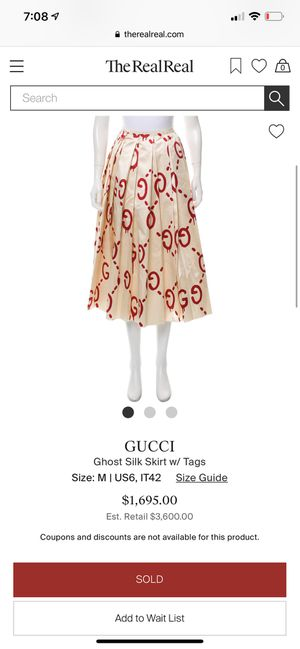 Gucci ghost silk skirt for Sale in Columbus, OH