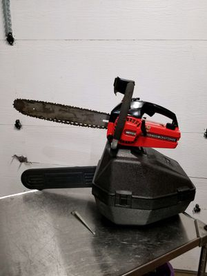 """16"""" craftsman chainsaw with case . Runs Strong for Sale in Naperville, IL"""