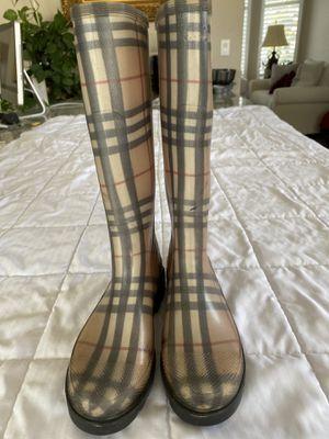 Burberry rain boots /Wellies women's sz 36 for Sale in Las Vegas, NV