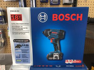 BRAND NEW Bosch 18-Volt 1/4-in Cordless Impact Driver (2 Batteries Included and Charger Included for Sale in Los Angeles, CA