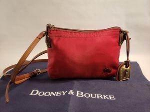 Dooney & Bourke Nylon Crossbody adjustable Strap Pouchette RED for Sale in San Antonio, TX