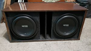 Re audio sc dvc 12in subs,ported box, m.a.audio 800watt bridgeable 2channel amp for Sale in BRUSHY FORK, WV