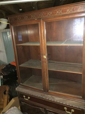 PICK UP ONLY! Antique china cabinet. Goes with a matching buffett. Can seperate or both. Needs love! In family since 1940. for Sale in Cleveland, OH