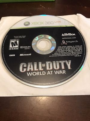 Call of duty world at war- Xbox 360 game for Sale in Houston, TX