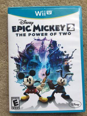 Epic Mickey 2 (Wii U) for Sale in Fairfax, VA