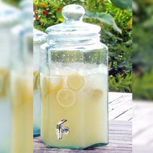 Large Square Glass Jar with Spigot for Sale in Plantation, FL