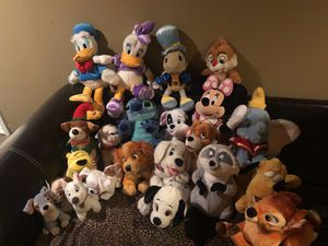 Lot of 22 stuffed Disney characters all for sale  great condition some with tags for Sale