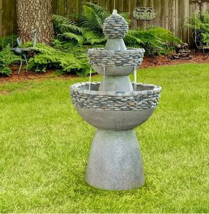 "Peaktop Outdoor Garden Zen 3 Tier Waterfall Fountain, 20.5""W x 36.5""H $122 FIRM for Sale in Redlands, CA"