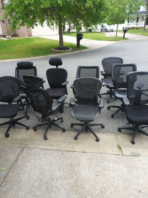 Office desk chairs all kinds in great condition 40 each for Sale in Forestville, MD