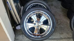 """Wheels and tires 20"""" 5 lug universal for Sale in Riverside, CA"""