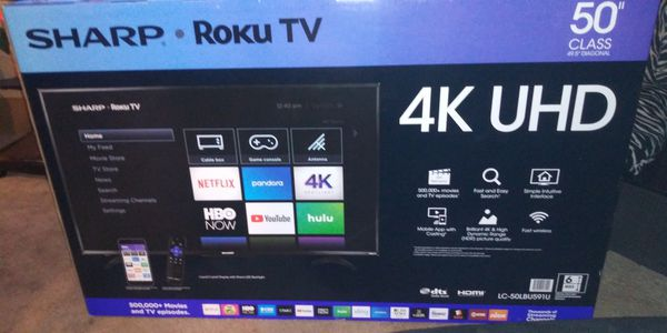 50 in sharp Roku TV brand new