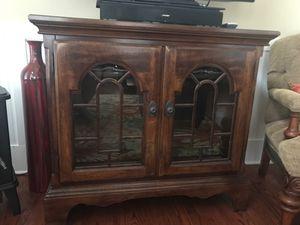 3 Shelf Glass Doors Cabinet With Light for Sale in Woodstock, GA