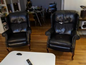 Leather Wing Backed Recliners for Sale in Denver, CO