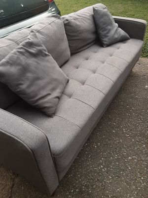 PRACTICALLY NEW GREY SOFA for Sale in Gaithersburg, MD
