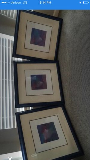 Emerson pictures in matted frames. Abstract art for Sale in Lake Alfred, FL