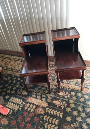 Two antique end tables for Sale in Rancho Cucamonga, CA