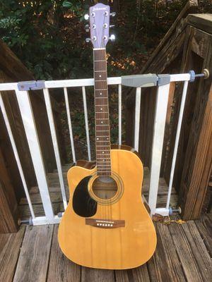 Johnson acoustic/electric JG 624 CEN lefty/left handed guitar for Sale in Duluth, GA