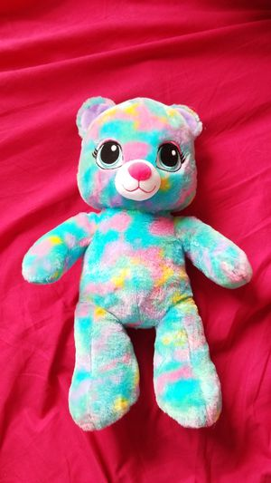 Build a bear Multi color teddy bear for Sale in Yorktown, VA