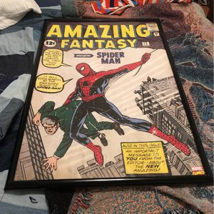 Spider-Man Framed Piece for Sale in Oklahoma City, OK