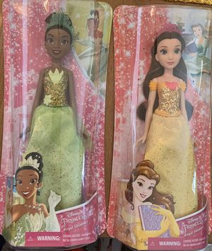 2 new in box Disney princess dolls for Sale in Plano, TX