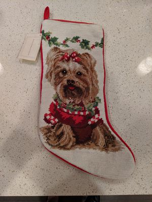 Neddlepoint Christmas stocking Dog for Sale in Washington, DC