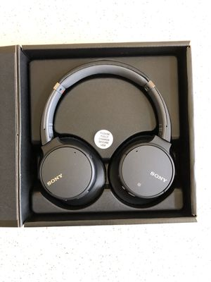 Sony - WH-CH700N Noise Canceling Wireless Over-the-Ear Headphones - Black for Sale in Garland, TX