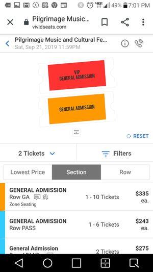 The pilgrimage Music Festival tickets for Sale in La Vergne, TN