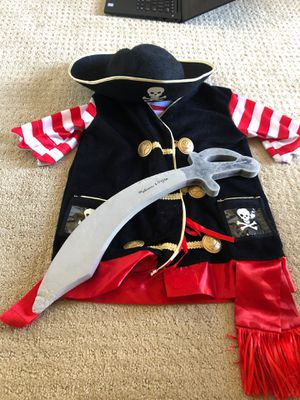 Pirate kids costume 2 - 4 years for Sale in Irvine, CA