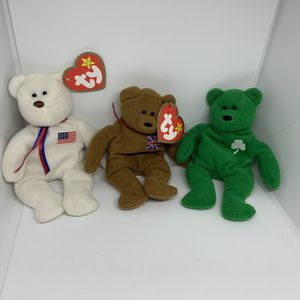 Tiny beanie baby bear sets for Sale in Davis, CA