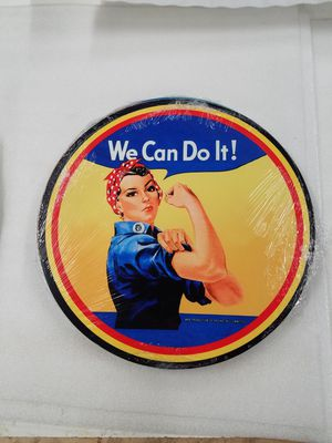 Rosie riveter we can do it steel metal sign for Sale in Vancouver, WA