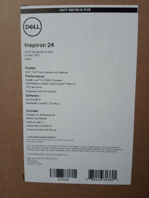 DELL lnspiron 24. 3000 series All in one Black computer for Sale in Las Vegas, NV