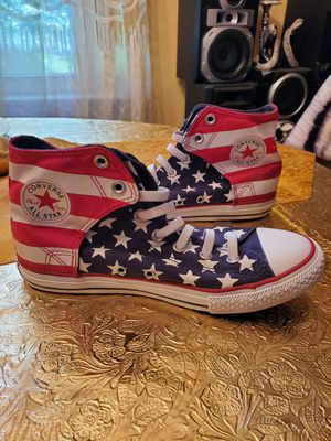 Converse Kids Chuck Taylor Flag Red White Blue Shoes 622366F Size 6 for Sale in Florissant, MO