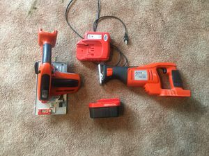 Fire storm - black and decker circular saw and reciprocating saw with 24v battery and charger for sale or trade for Sale in Orlando, FL