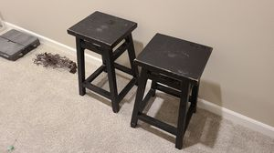 Black distressed bar stools, 24 inches tall. for Sale in Renton, WA