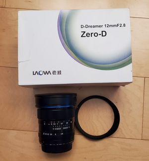 Laowa 12mm f2.8 zero-d Canon mount lens Ex+ condition for Sale in Los Angeles, CA