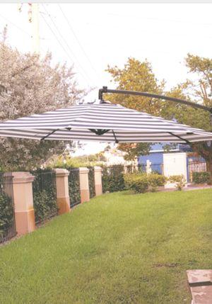 Brand new LED solar light backyard patio poolside lounge sunshade 10 ft umbrella for Sale in Miami, FL